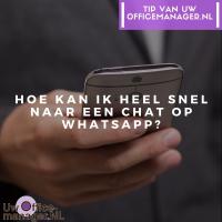 Hoe kan ik heel snel naar een chat op WhatsApp?