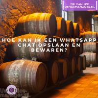 Hoe kan ik een WhatsApp chat opslaan en bewaren?