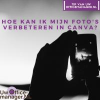 Hoe kan ik mijn foto's verbeteren in Canva?